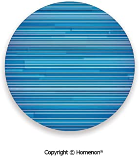Gradient Linear Several Sized Lines Pattern Old Modern Graphic Image,Fashion Coasters For Drinks Absorbent Royal Blue,3.9×0.2inches(8PCS),Suit All Types Of Glasses
