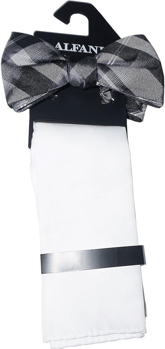 Alfani Mens Venus Neat Bow Tie Sol Black, Pre-Tied Bow Tie One Size