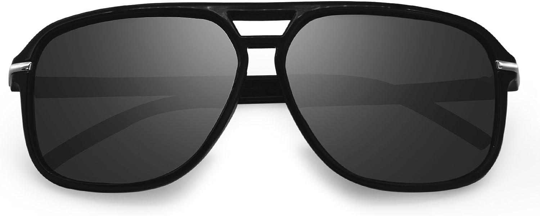AMZTM Polarized Aviator Sunglasses for Men and Women Oversized Fashion Glasses 100% UV400 Predection Ultralight
