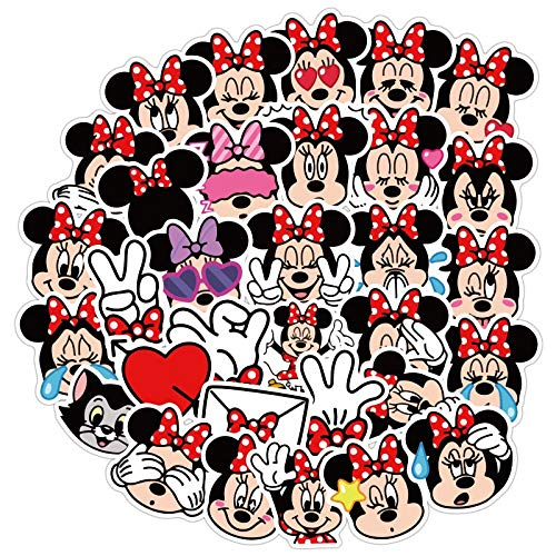 WYDML Minnie Doesn'T Repeat Cute Cartoon Stickers Skateboard Motorcycle Luggage Laptop Stickers Toy 40Pcs