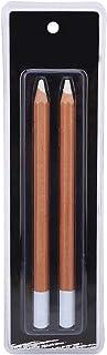 2 Pièces Crayons Croquis Blanc Peinture pastel blanc pencil Papier Crayon à Charbon Blanc Crayon Pastel Blanc Couleur pour...