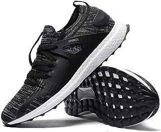 Ahico - Zapatillas de correr para hombre, ligeras, informales, transpirables, antideslizantes, de malla para tenis, gimnas...