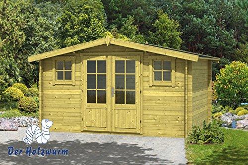 28 mm Gartenhaus 3x4m Juha ca. 400x300 cm