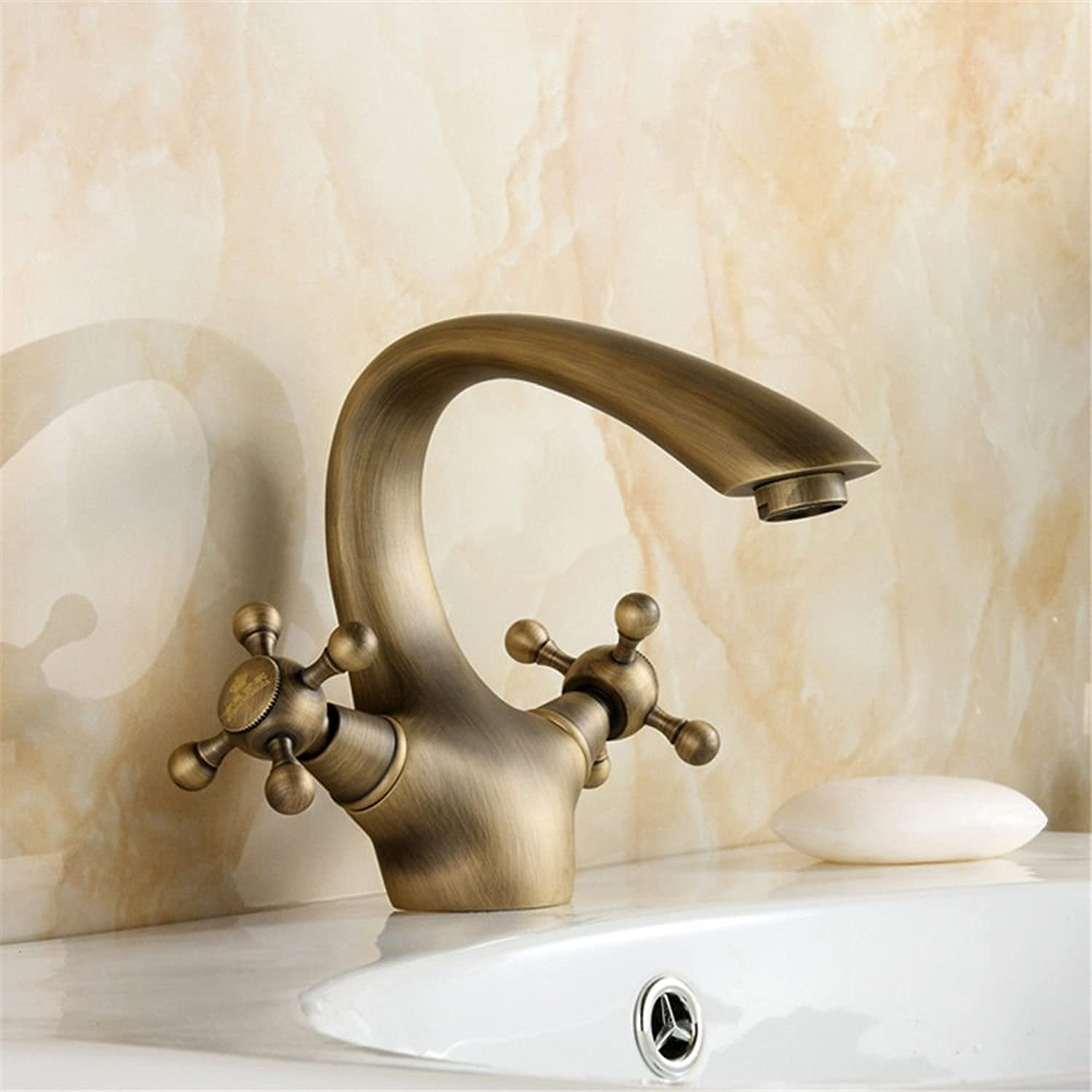 Hlluya Professional Sink Mixer Tap Kitchen Faucet The Antique copper cold water faucet antique table basin basin mixer