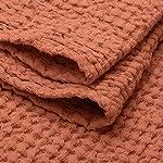 "Linen Bath Towel 100% Pure Flax Cotton Towel - Size 31.5"" x 55.1"" inch, Copper Red"