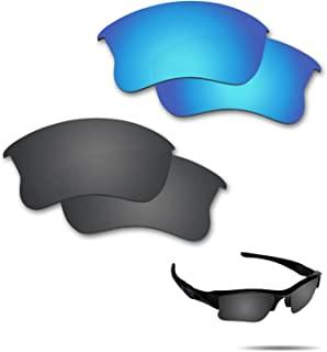 Fiskr Anti-Saltwater Polarized Replacement Lenses for Oakley Flak Jacket XLJ Sunglasses 2 Pairs Packed