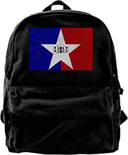 ChunLei San Antonio City FlagTexas Unisex Casual Daypack Travel Backpack Classic Canvas Rucksack Shoulder Backpack