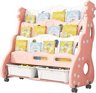 Étagère Enfant Livres Bibliothèque Pour Enfants, Étagère À Roulettes Mobile, Étagère Pour Livre D'images Pour Enfants, Pet...