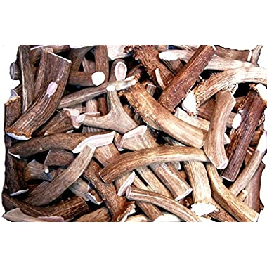 Premium Deer Antler Pieces - by Big Dog Antler Chews - Antlers by the Pound, One Pound - Six Inches or Longer - Medium, Large and XL - Happy Dog Guarantee!