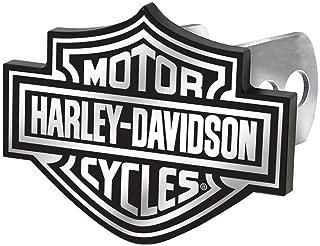 License Plate Shop Harley-Davidson Auto Hitch Plug Black & White Bar Shield -2287 by Plasticolor