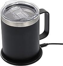 FRCOLOR Heating Mug Warmer Electric Beverage Cup Warmer Water Tea Milk Desktop Heating Plate Mug Warmer for Office Desk Use