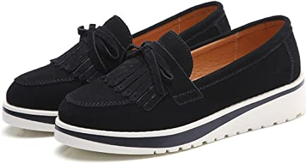 9ecb8bde3e Luyomy Women's Over Drive Tassel Loafer Genuine Leather Driving Moccasins  Slip-On Flat Shoes