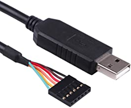 FTDI Chipset USB to Serial TTL 3.3V UART Level Converter Cable 6 Way Pin 0.1 Pitch Terminated, Works with Galileo Gen2 Boards/BeagleBone Black/Minnowboard Max and More 6FT Compatible TTL-232R-3V3
