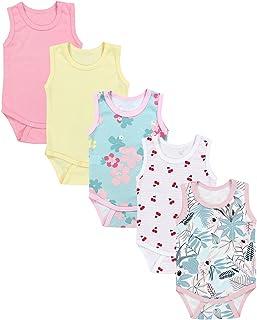 TupTam Baby Mädchen Achselbody in Unifarben 5er Pack