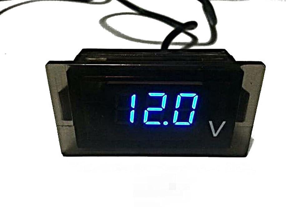 Waterproof Car Truck Motorcycle Voltmeter Voltage Meter , Blue LED Digital Display DC 12V-24V