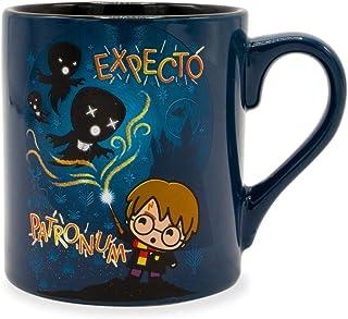 Silver Buffalo HP232232 Harry Potter Chibi Patronum Ceramic Mug, Blue