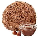 Nougat Haselnuss Geschmack 1 Kg Gino Gelati Eispulver für Ihre Eismaschine