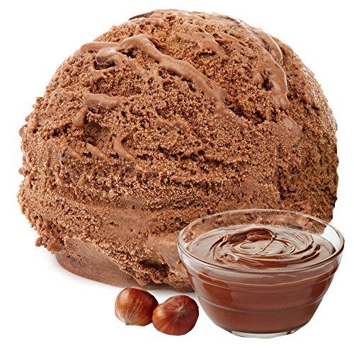 Nougat Geschmack Eispulver VEGAN - OHNE ZUCKER - LAKTOSEFREI - GLUTENFREI - FETTARM, auch für Diabetiker Milcheis Softeispulver Speiseeispulver Gino Gelati (Nougat, 1 kg)