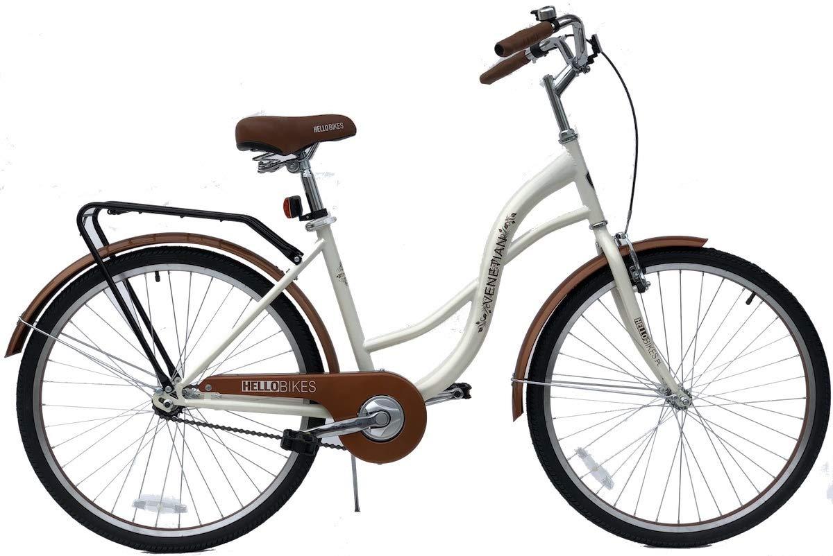 HelloBikes Venetian - Bicicleta de Ciudad para Mujer (26