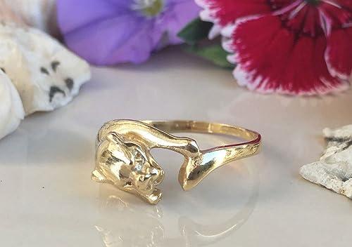 Amazon.com: Panther Ring - Gold Ring - Jaguar Ring - Animal ...