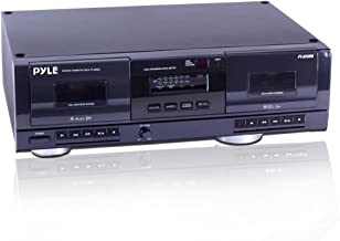 Dual Stereo Cassette Tape Deck – Clear Audio Double Player Recorder System w/ MP3..