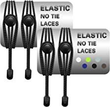 isnowood 2 Pairs No Tie Shoelaces for Adults, Kids - Tieless Elastic Shoe Strings with Lock for Sneakers, Boots