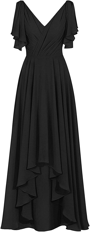 HiLo Mother of The Bride Dress V Neck Mother Dresses Long Formal Evening Gowns