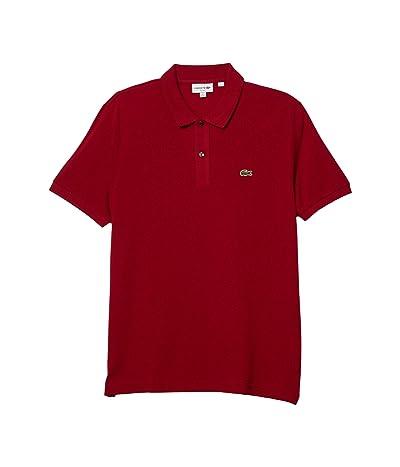 Lacoste Short Sleeve Slim Fit Pique Polo (Bordeaux) Men