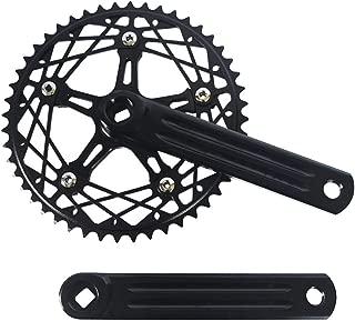CUTICATE Single Speed 130BCD Chainring and 170mm Crank Arm Set - Folding Bike BMX Crankset Chainwheel 48T Chain Wheel AL7075-T6 Chain Ring