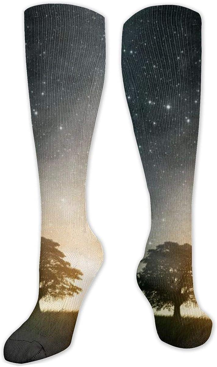 Starry Tree Knee High Socks Leg Warmer Dresses Long Boot Stockings For Womens Cosplay Daily Wear