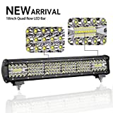 LED Light Bar, Swatow Industries 18 Inch Triple Quad Row Off Road...
