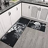 GUYJBcn 2 Pieces Ergonomics Sally Nightmare Before Christmas Kitchen Rug and Mat Microfiber Cushioned Non-Slip Kitchen Rug and Mats Used for Office