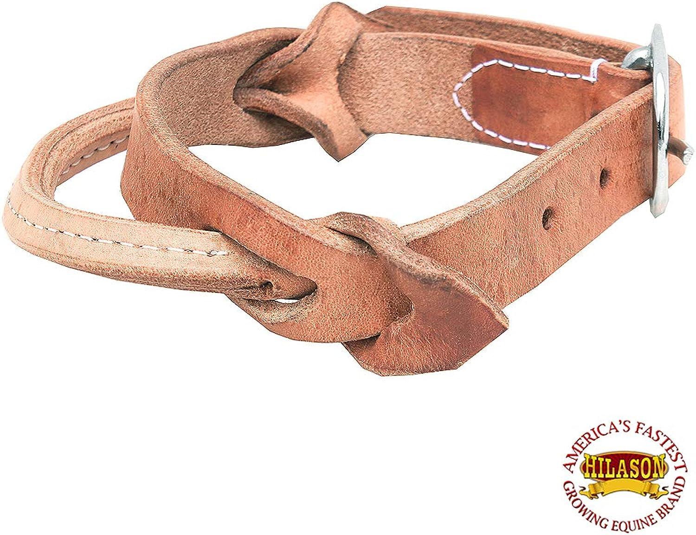 HILASON Horse Saddle Safety Leather Night Latch Adjustable Handle Small