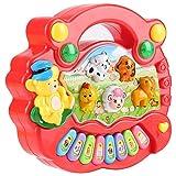 Liineparalle Bebé Piano Juguete Musical Inteligencia Educativa Estilo de Granja de Animales Juguetes de Desarrollo para Niños Niños como Regalos 2 Color (sin batería)(#2)