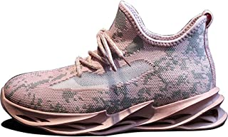 Running Shoes Women's Non-Slip Running Shoes Breathable Sneakers Fashion Ladies Walking Shoes (Color : Pink, Size : 6)