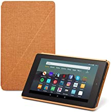 "Fire 7 Tablet (7"" display, 16 GB) - Black + Fire 7 Tablet Case, Desert Orange + NuPro Clear Screen Protector (2-Pack)"