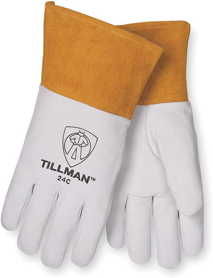Sale price Tillman White Surprise price Gold Medium Grain Kevlar Leather G Welding Kidskin