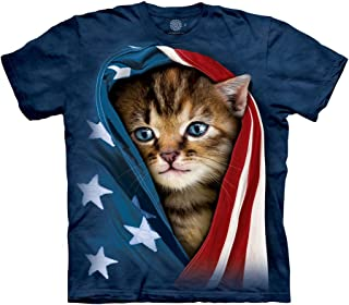 Men's Patriotic Kitten Adult T-Shirt