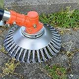 BGTOOL Brosse rotative pour désherbage en Fil d'acier 25,4 mm x 150 mm