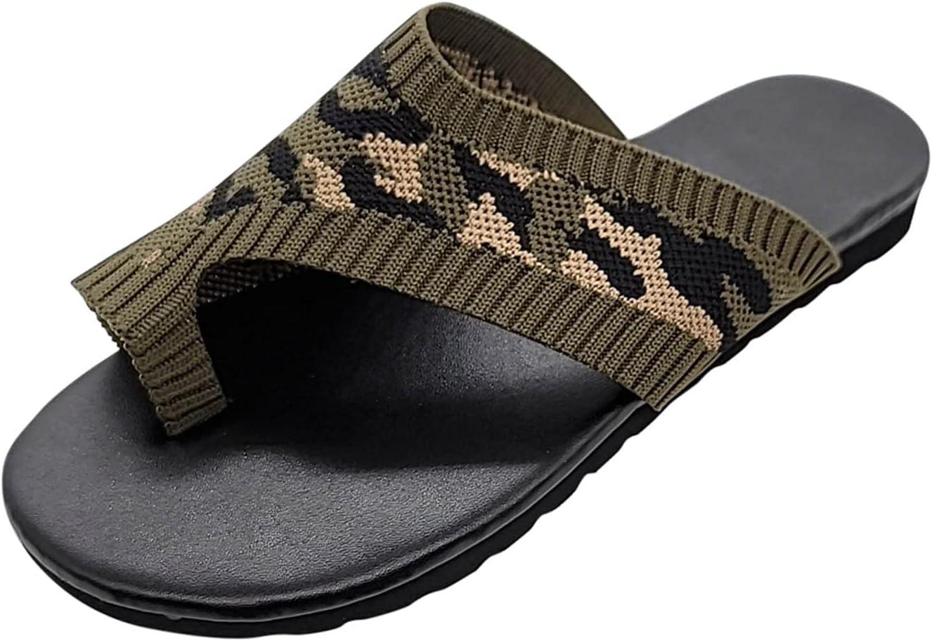 Max 42% OFF PLENTOP Ring Toe Flat Sandals Superior for Size Summer Ladies Plus Women
