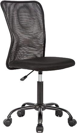 Ergonomic Office Chair Cheap Desk Chair Mesh Computer Chair Back Support Modern Executive Mid Back Rolling Swivel Chair for Women, Men