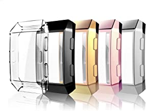 Haojavo Screen Protector for Fitbit Ionic Case, 5 Pack Slim Fit TPU All-Around Full Front Screen Protective Case for Fitbit Ionic Smart Watch Bands Accessories