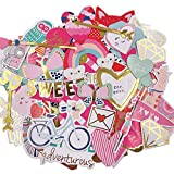 Scrapbook Stickers80pcs Cardstock Stickers Love Stickers Decorative Masking Stickers for Personalize Laptop Scrapbook Daily Planner and Crafts