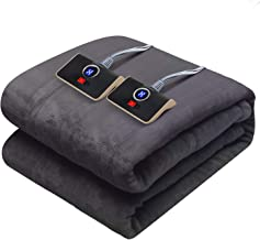 """Westinghouse Electric Blanket Queen Size 84""""x90"""" Heated Throw Soft Silky Plush Flannel Heating Blanket, 10 Heat Settings &..."""
