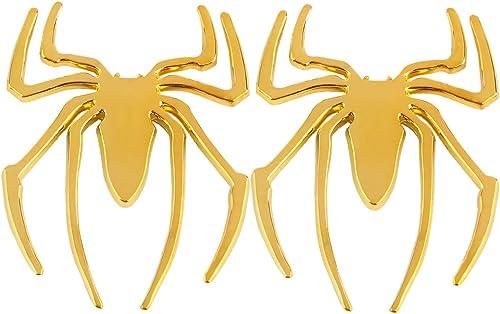 high quality Larcele 2 Pieces Metal Spider online Automotive Sticker 3D Self Adhesive lowest Decor JSCT-01 (Gold) online sale