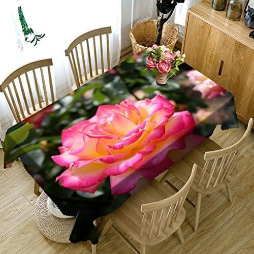 Qiao jin Tischdecke Rechteckige Tischdecke - 3D personalisierte Tischdecke PG01019 - Umweltfreundlich und geschmacklos - Digitaldruck Wasserdicht (Größe   Square -228cm228cm)