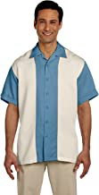 Harriton Men's Two-Tone Bahama Cord Camp Shirt