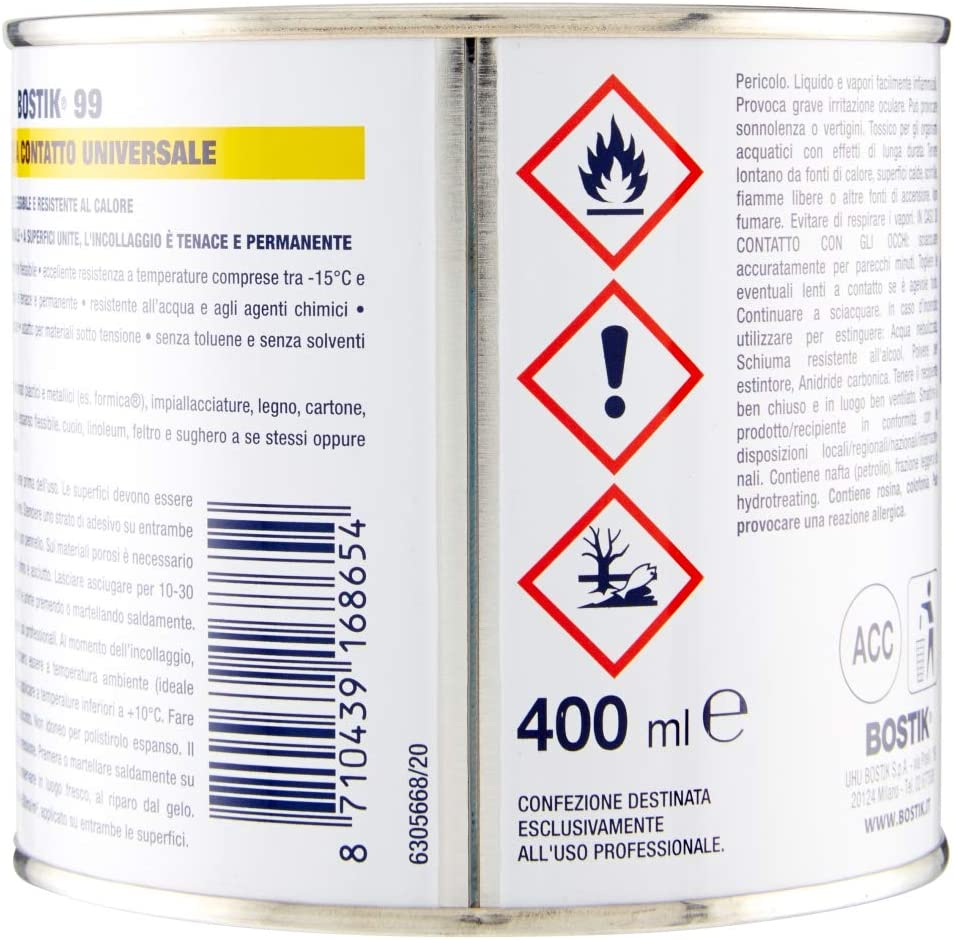 Bostik 20 20 Kontakt Klebstoff, Universal, gelb, 20 ml ...