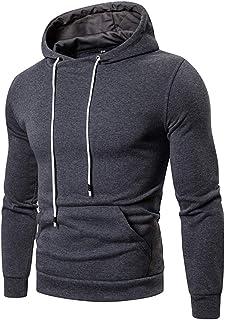 Lfly Felpa Cappuccio Uomo Moda Primavera Autunno Hoodie Classic Tinta Unita Hooded Jacket Elegante Invernale Comodi Soft P...