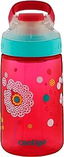 Contigo Auto Seal Gizmo Sip 康迪克 儿童水瓶 14盎司 蒲公英图案 粉色